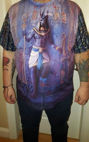 Anubis Face Blue New Design 3D All Over Printed Clothes Lh0976 photo review