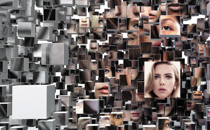 컴퓨터가 수많은 사진 중에 영화배우 스칼릿 조핸슨을 찾아내는 과정을 묘사한 그래픽. 컴퓨터는 스스로 학습을 반복하는 딥러닝(심층 학습) 기법을 이용해 사람의 얼굴을 구분할 수 있게 된다.