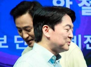 野 통일 '유선 통화 5 %'따라 잡 … 吳 ⋅ 安, 큰 반전은 없었다