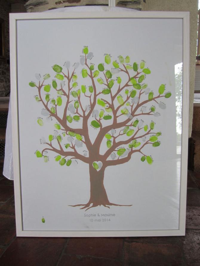 Fingerabdruck Hochzeit Baum