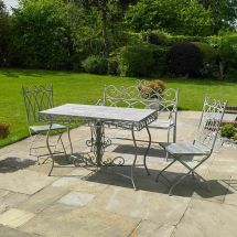 4pc Garden Patio Furniture Outdoor Dining Bench Table