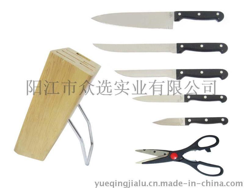 affordable kitchen knives cream cabinet ideas 磨刀棒厨房剪ka0012 优质不锈钢abs柄厨房7件套实惠家用厨具 价格 厂家 加载中