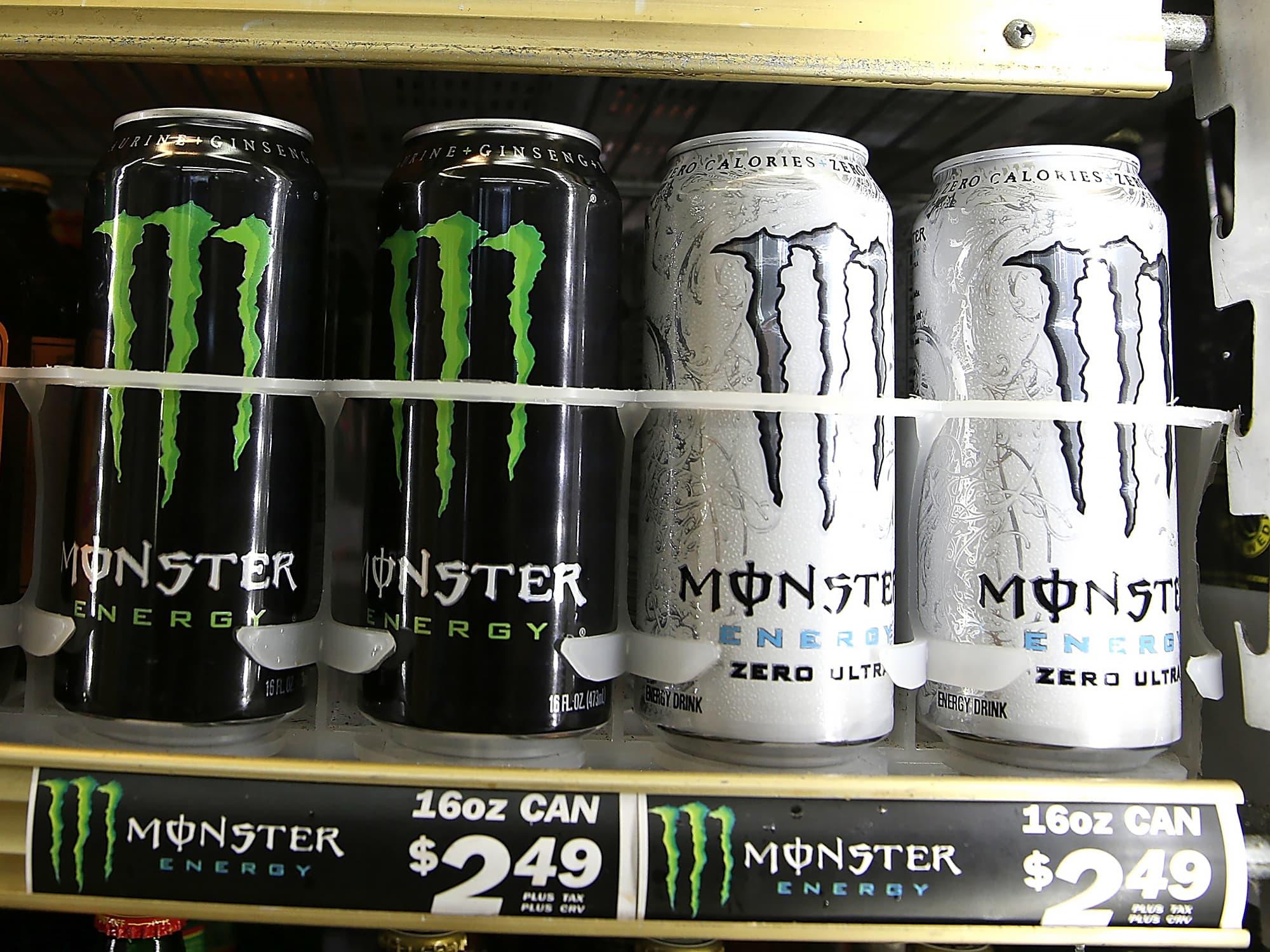 monster beverage is up