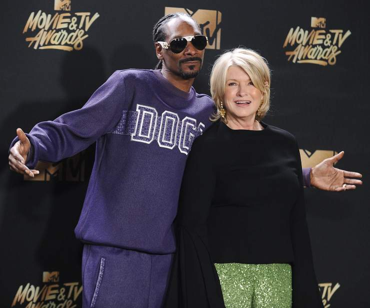 GP: Snoop Dogg and Martha Stewart 2017 MTV Movie And TV Awards - Press Room