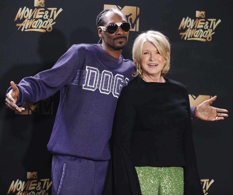GP: Snoop Dogg and Martha Stewart 2017 MTV Movie And TV Awards - Press Room