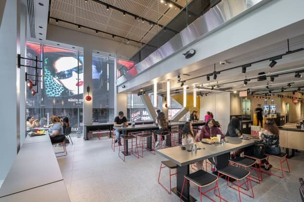 H/O: McDonald's new Times Square flagship, second floor seating 190529