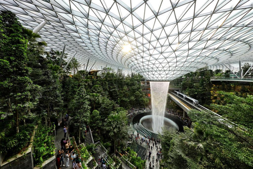 Inside Singapore S Jewel Changi Airport Food Shopping