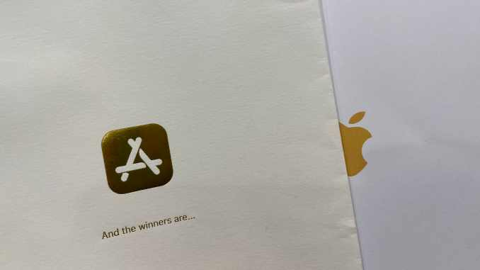 App and game winners were revealed inside an envelope at a special Apple event.