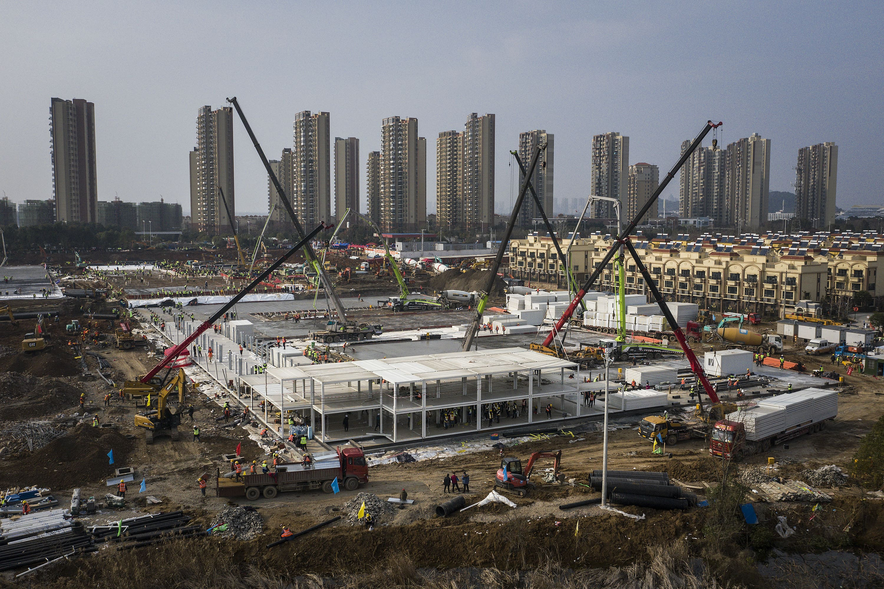 In pictures: China builds two hospitals in days to combat coronavirus
