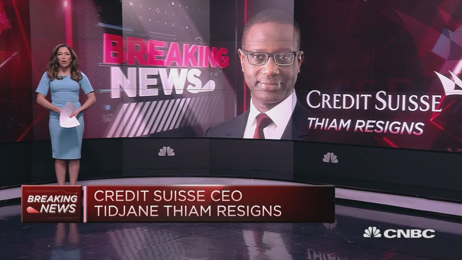 Credit Suisse Ceo Tidjane Thiam Quits After Spying Scandal