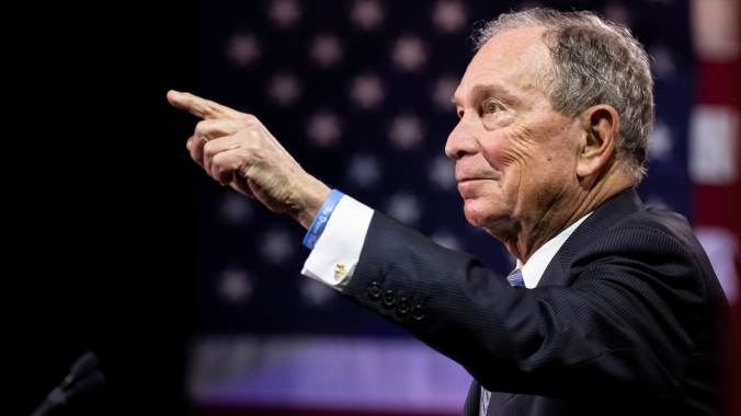 GP: Presidential Candidate Mike Bloomberg Holds Campaign Rally In Nashville