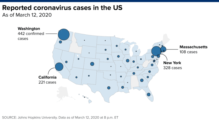 Washington reports 5 new coronavirus deaths, Trump says UK could ...