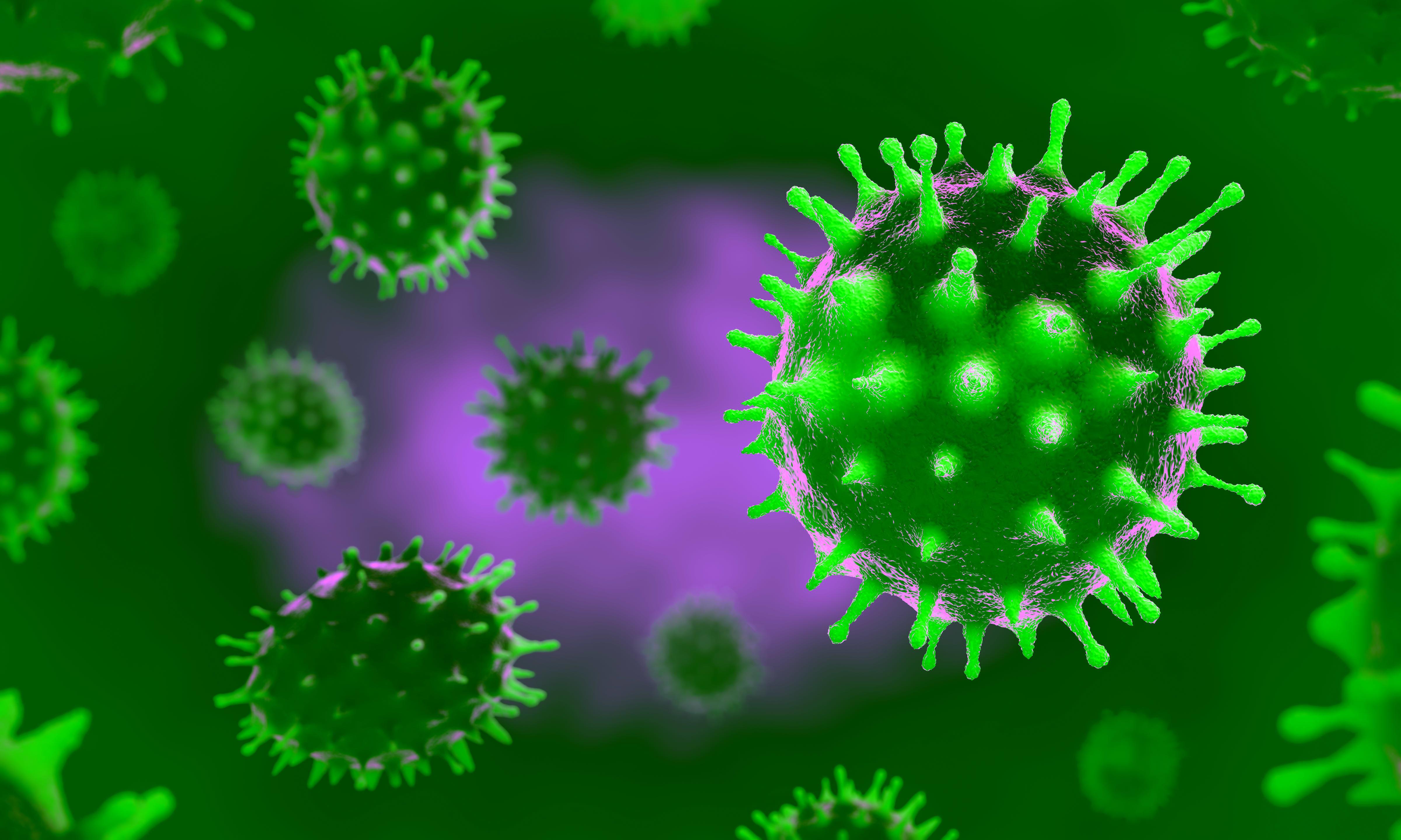 Corona Virus Microscope Image Hd