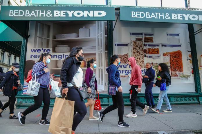 Bed Bath & Beyond shares surged more than 60%, buoyed by meme stock mania, product news