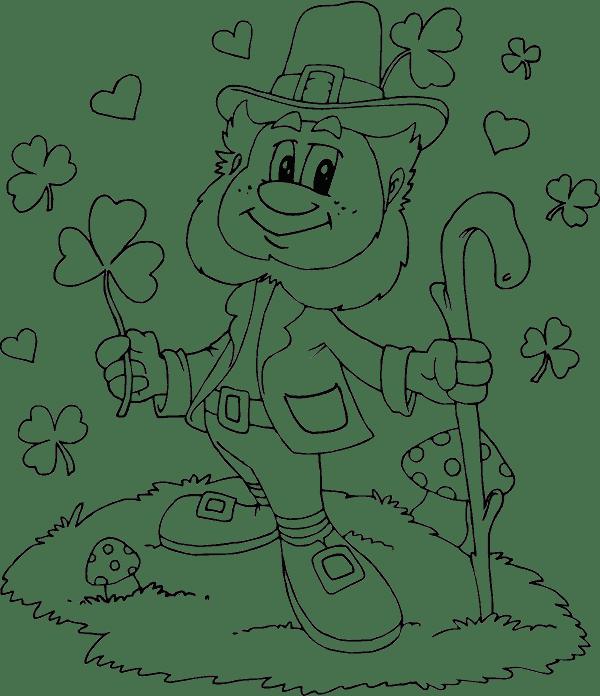 Leprechaun Shamrocks Hearts