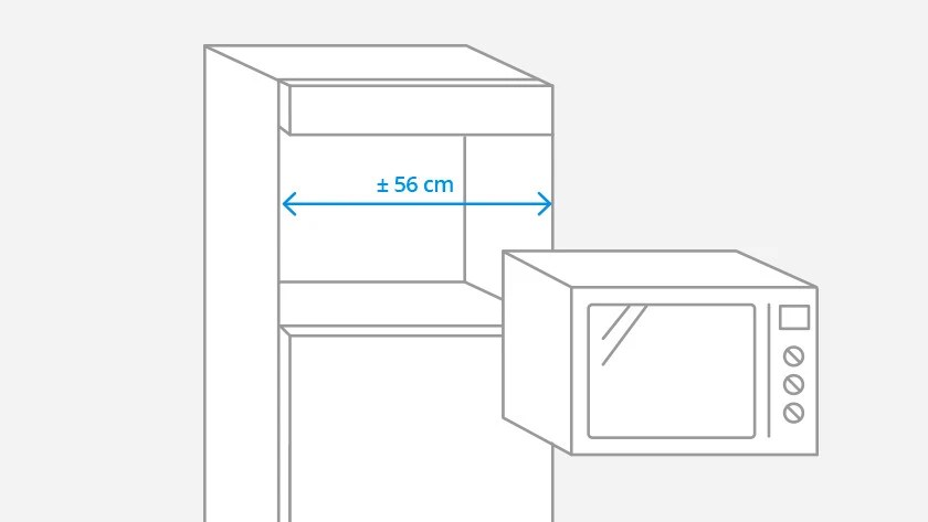 what are the dimensions of a microwave