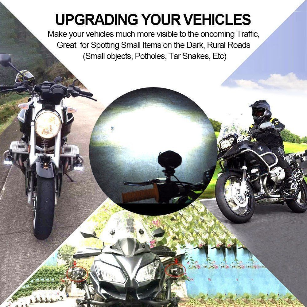 hight resolution of 2x tsialee 4 20w aluminium usb charging motorcycle fog lights 2x aluminium mounting brackets 1x wire harness with on off toggle switch