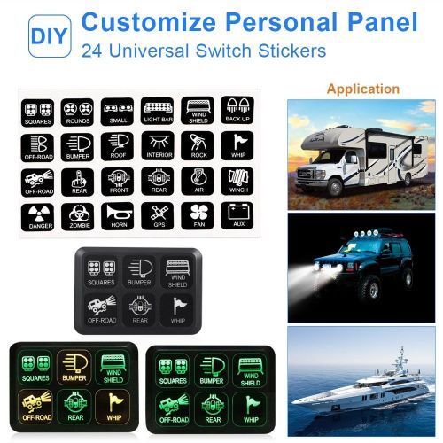 small resolution of  off road lights vehicle accessories package list 1 switch panel 24 stickers 2 screws mounting bracket tape 3 relay and fuse box har