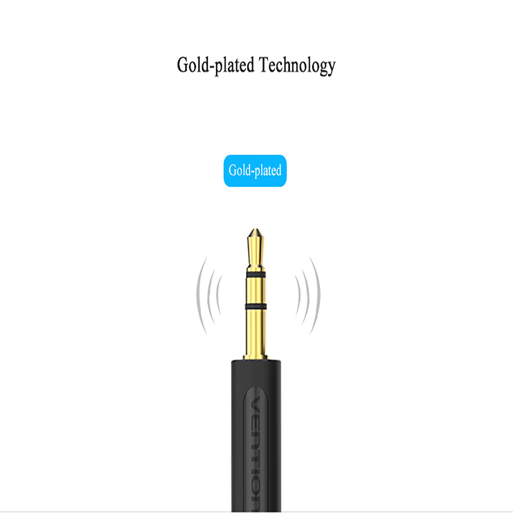 Shop for VENTION 3.5mm to Double 6.35MM Audio Cable Gold