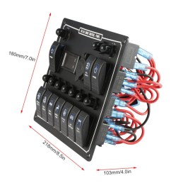 1 x 10 gang blue led ac dc rocker switch panel [ 1000 x 1000 Pixel ]