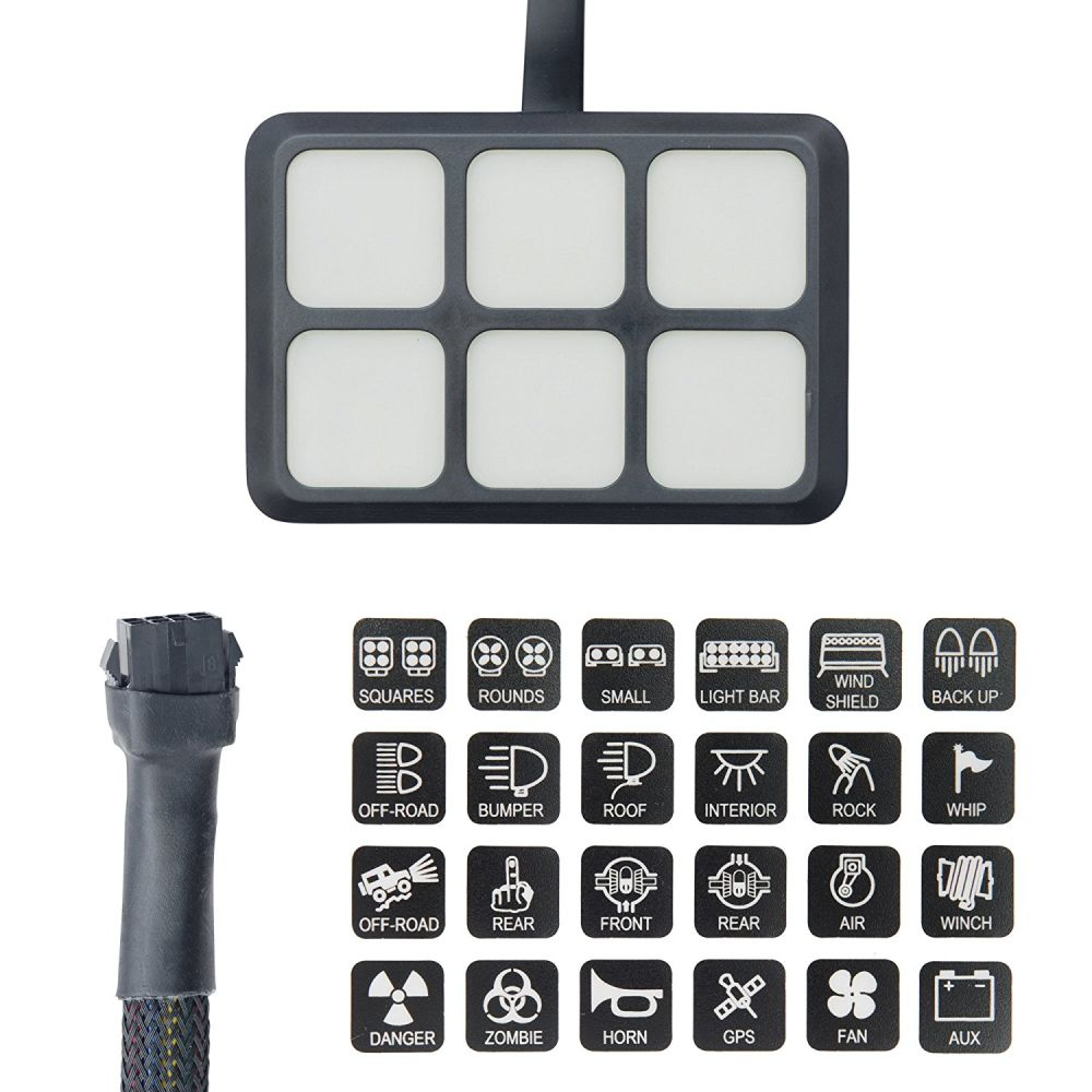 medium resolution of  off road lights vehicle accessories package list 1 switch panel 24 stickers 2 screws mounting bracket tape 3 relay and fuse box har