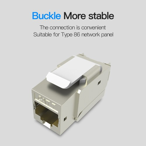 small resolution of shop for vention cat 7 rj45 ethernet modular keystone jack 50u gold plated snap in connector socket shielding adapter 10g network at wholesale price on