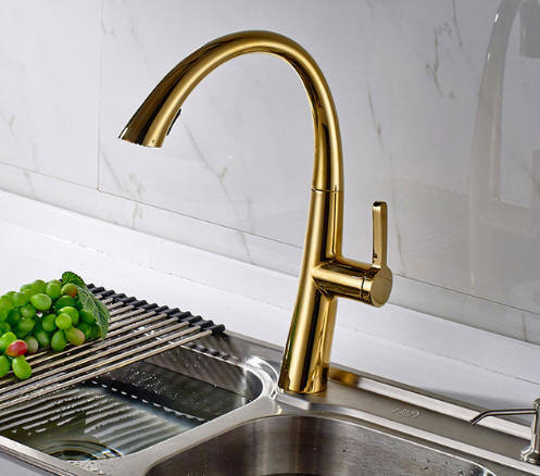 gold kitchen faucet chairs ikea shop for flg hot sale oil rubbed bronze swivel spout sink tap deck mounted pull out solid brass mixer at wholesale price on