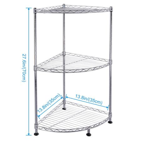 Shop for Lifewit Corner Shelf 3 Tiers Adjustable Metal