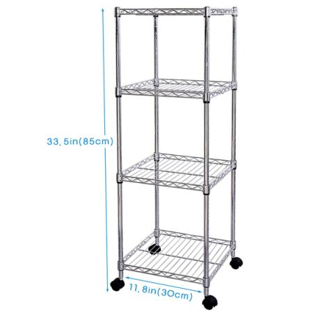 Shop for Lifewit 4 Tiers Wire Shelving Unit on Wheels