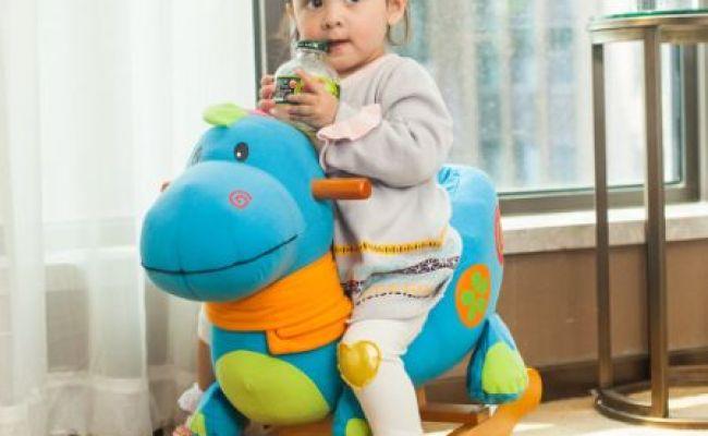 Shop For Labebe Wooden Rocking Horse Blue Dinosaur For 6