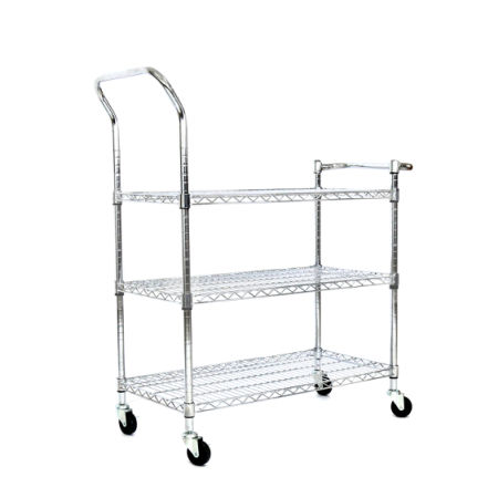 Shop for Kinbor 3 Tier Chrome Rolling Shelving Rack Metal
