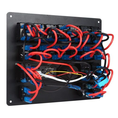 small resolution of 1 x 10 gang blue led ac dc rocker switch panel
