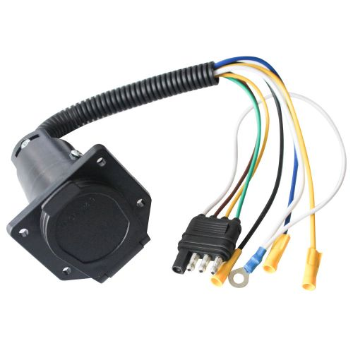 small resolution of shop for 4 wire flat to 7 way vehicle end connector rv trailer wire harness adapter parts at wholesale price on crov com