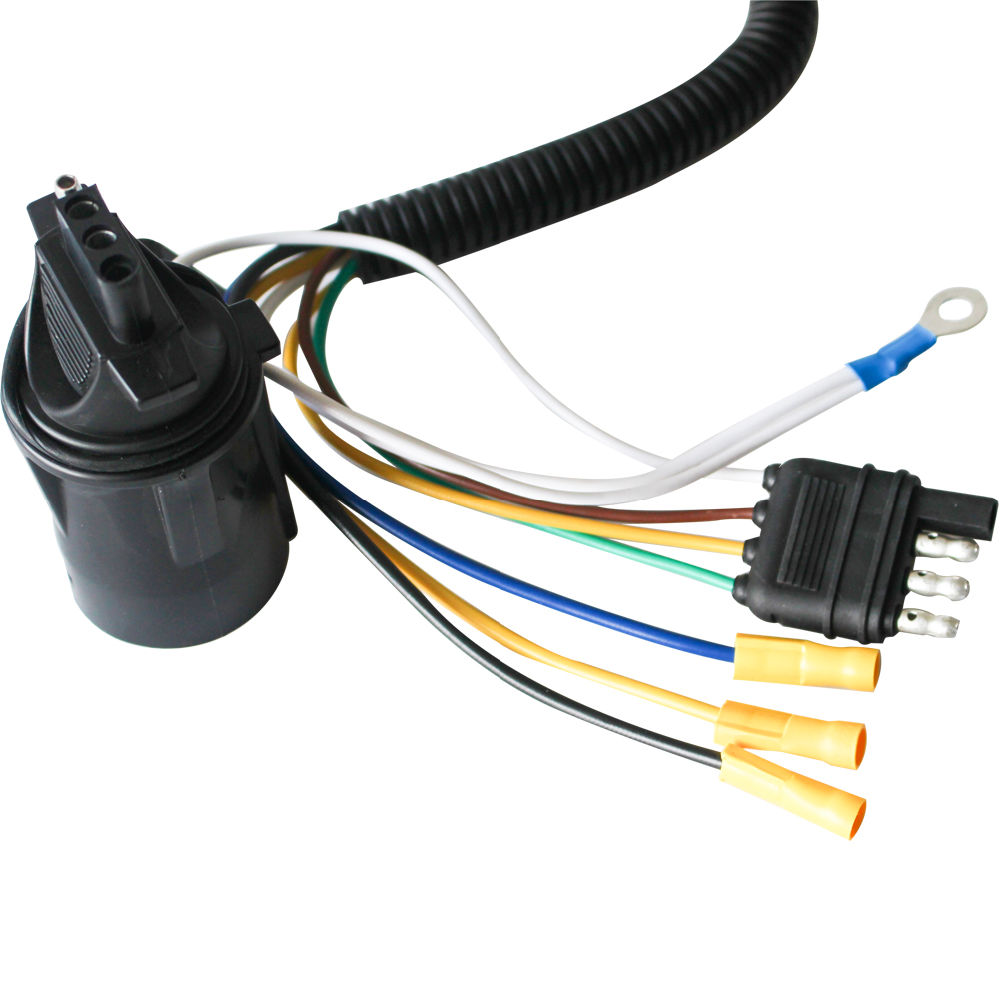 medium resolution of shop for 4 wire flat to 7 way vehicle end connector rv trailer wire harness adapter parts at wholesale price on crov com
