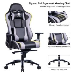 Tall Desk Chairs With Backs Used Lift Chair Recliners For Sale Shop Killabee Big And Metal Base Gaming Ergonomic Fabric Leather Racing Computer High Back Office Adjustable Memory Foam