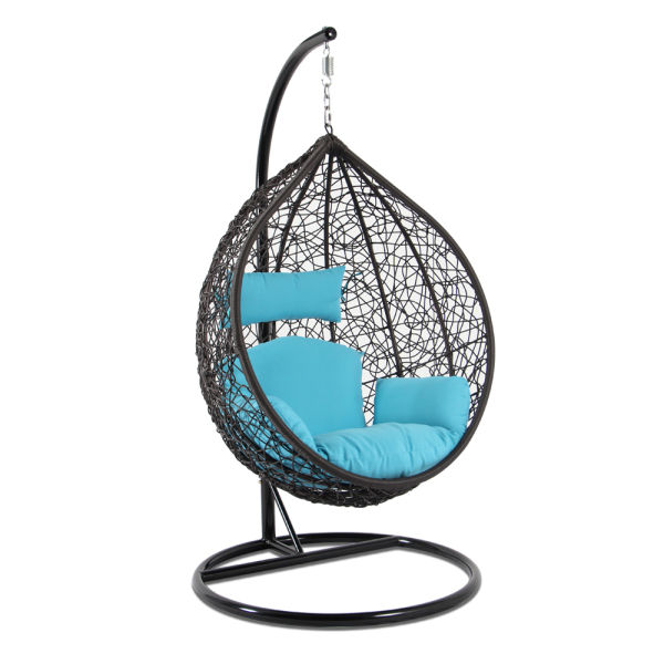swing chair with stand kuwait sure fit dining covers target shop for garden outdoor rattan patio hanging egg seat blue cushion