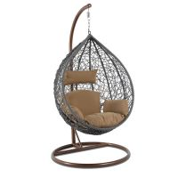 Shop for High End Outdoor Furniture Grey Wicker Hanging ...