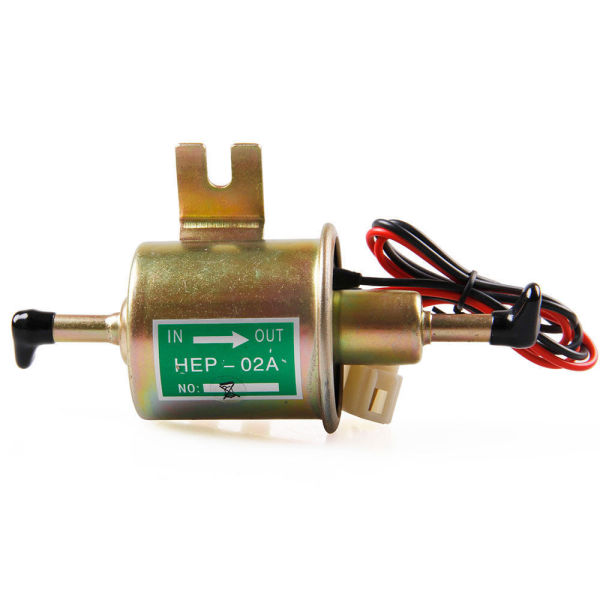 1pc Gas Petrol Diesel Inline Low Pressure Electric Fuel Pump Hep 02a