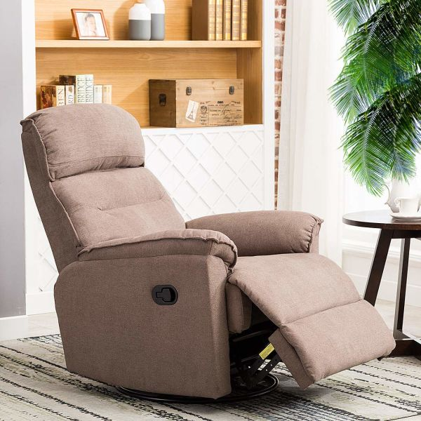 rocker and recliner chair felt glides hardwood floors shop for canmov contemporary fabric swivel soft microfiber single manual reclining 1