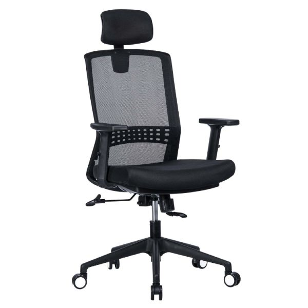 office chair with adjustable arms cheap black covers for sale shop vanbow high back mesh headrest and 90 120
