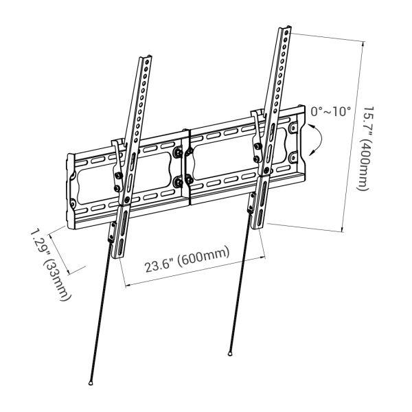 Shop for Loctek Super Slim T7M Low Profile 10° Tilt TV