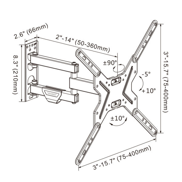 Shop for Loctek TV Wall Mount Bracket 14-42 inch with