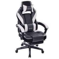 Office Chair Ergonomic Cushion Bassett Furniture Chairs Shop For Von Racer Massage Reclining Gaming High Back Racing Computer Desk With Retractable Footrest And Adjustable Lumbar