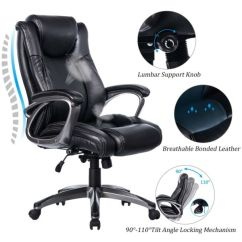 Ergonomic Chair Angle Vintage Sling Shop For Vanbow Leather Memory Foam Office Adjustable Lumbar Support Knob And Tilt High Back