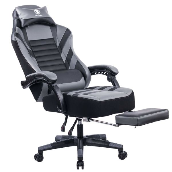chair design back angle leather baseball glove chairs shop for killabee big and tall 400lb memory foam reclining gaming adjustable retractable