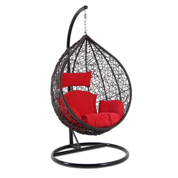 outdoor wicker swing chair ergonomic north sydney shop for top quality furniture brown red cushion