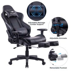 Office Chair Ergonomic Cushion Merry Garden Adirondack Shop For Killabee Big And Tall 350lb Massage Memory Foam Gaming Adjustable Lumbar Retractable Footrest 2d Arms High Back