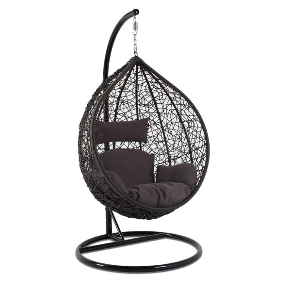 patio hanging egg chair bed bath and beyond leg covers shop for rattan swing garden weave with brown cushion