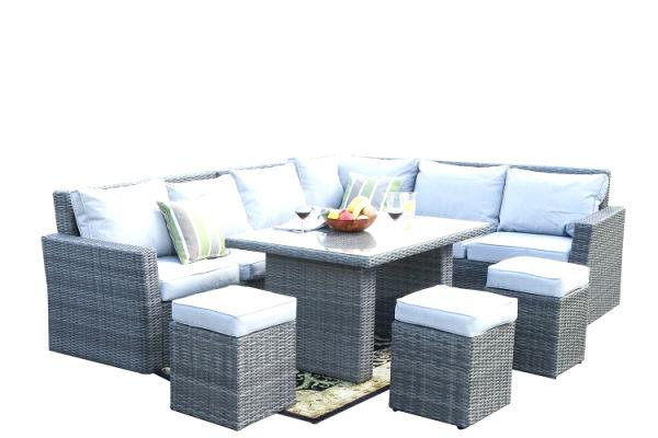 direct wicker 7 piece outdoor rattan wicker sofa rattan patio garden furniture gray 1 set sets