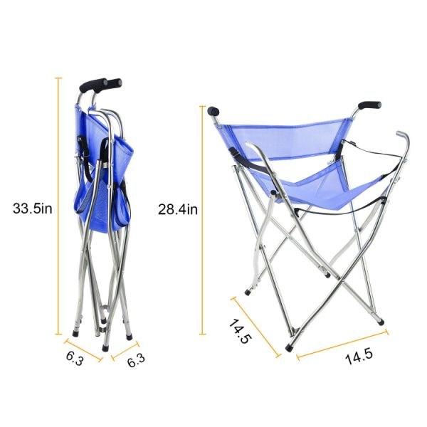 walking stick chair heavy duty design tokyo shop for frehsore folding cane seat women men 250 lbs with
